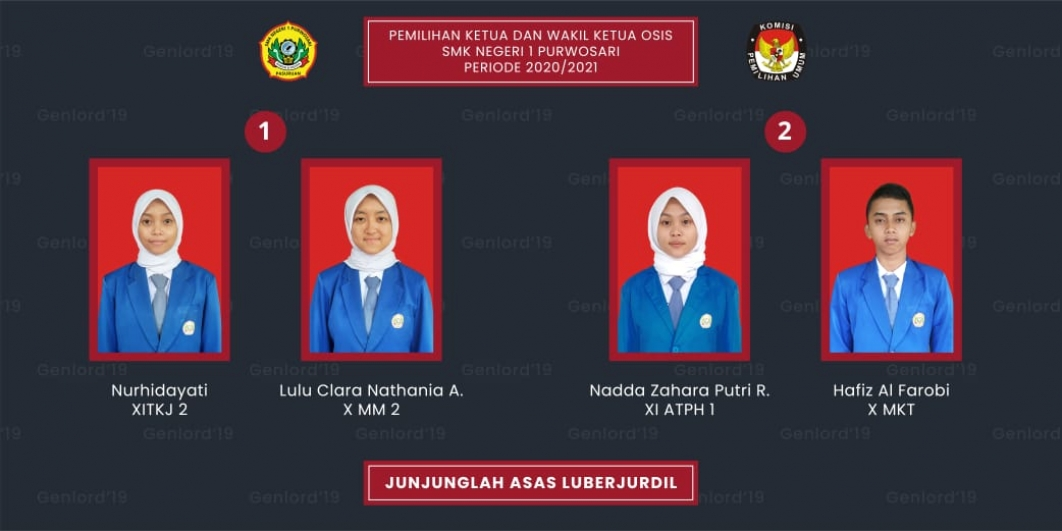 Pemilihan Ketua dan Wakil Ketua OSIS SMK Negeri 1 Purwosari Periode 2020-2021 SMK Negeri 1 Purwosari